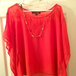 F21 | Flutter/Poncho Top